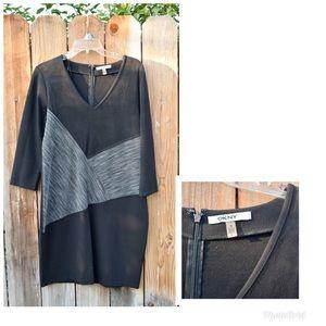 DKNYC Black Suede Dress Size M